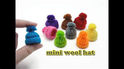 Diy Doll Accessories Mini Wool Hat