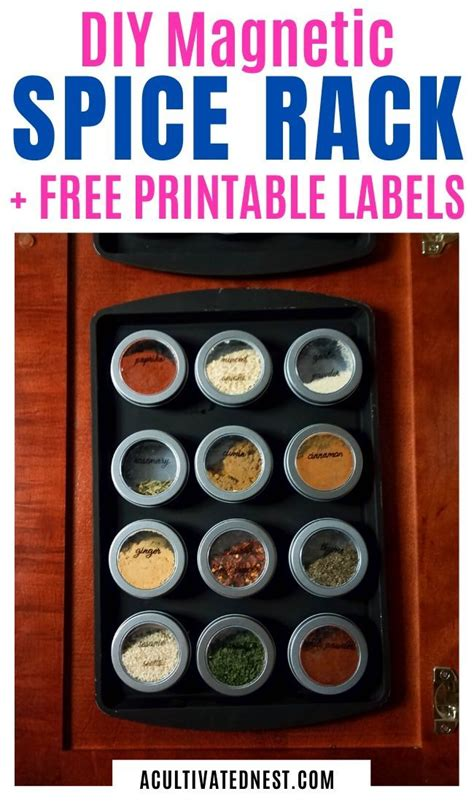 Diy Dollar Tree Magnetic Spice Rack