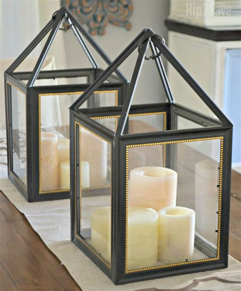 Diy Dollar Tree Picture Frame Lanterns With Tissue Paper