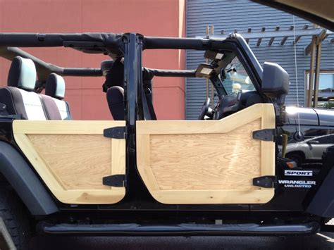 Diy Door Panels Off Wood On Jeep
