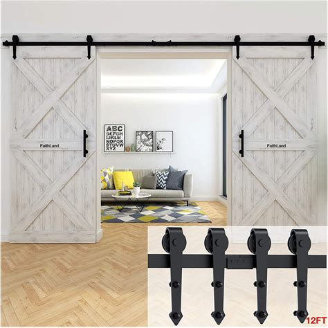 Diy Double Barn Door Track