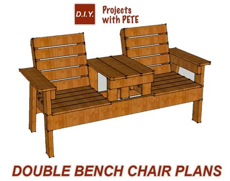 Diy Double Bench Chair Plans Free