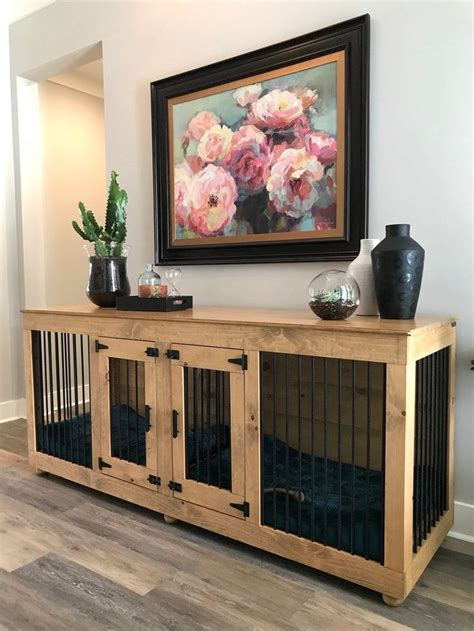 Diy Double Dog Kennel Table