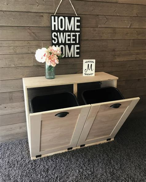 Diy Double Trash Can Cabinet
