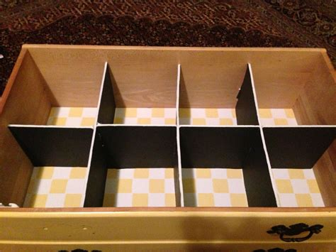 Diy Drawer Dividers With Foam Board