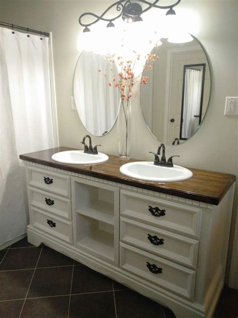 Diy Dresser Into Bathroom Vanity