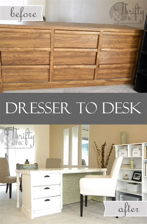 Diy Dresser Into Desk