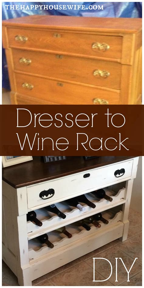 Diy Dresser To Wine Rack