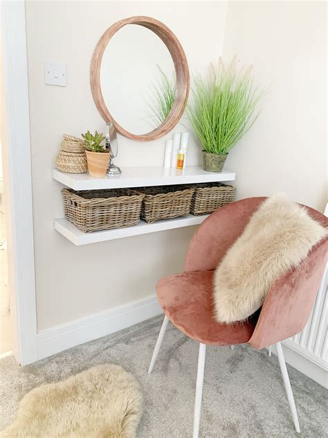 Diy Dressing Table Shelves Transform