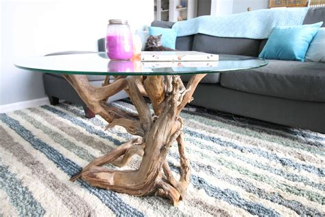 Diy Driftwood End Table