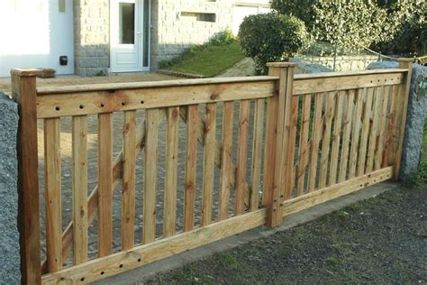 Diy Driveway Gate From Wood