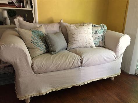 Diy Drop Cloth Sofa Slipcover
