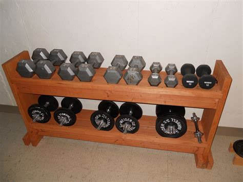 Diy Dumbbell Rack With Saddles