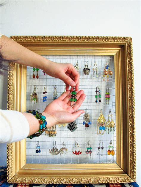 Diy Earring Holder With Pic Frames