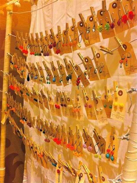 Diy Earring Stand Thread Up Clothing
