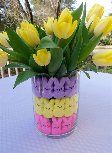 Diy Easter Table Decoration Clear Vase
