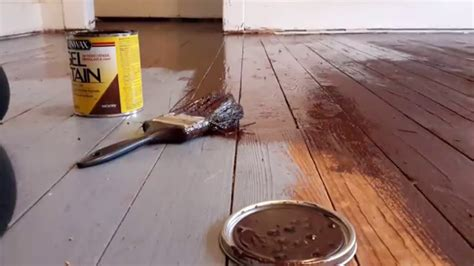 Diy Ebony Wood Stain Floor Youtube
