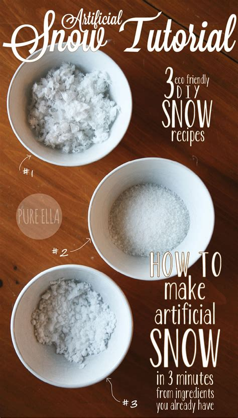 Diy Eco Friendly Fake Snow Outdoors