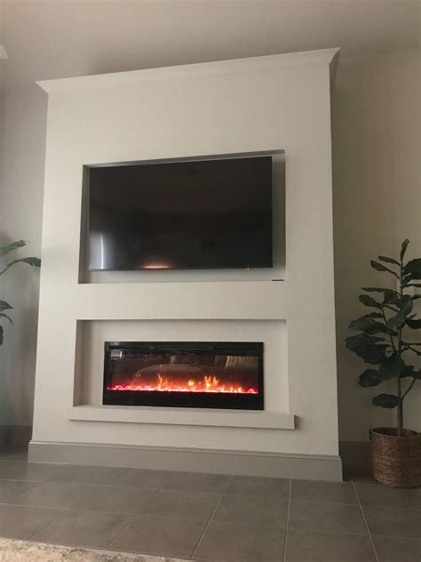 Diy Electric Fireplace And Tv Wall