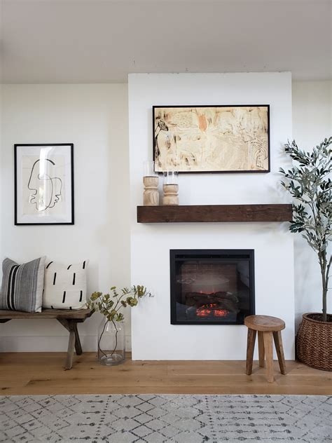 Diy Electric Fireplace Wall Build