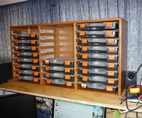 Diy Electronic Component Storage Ideas