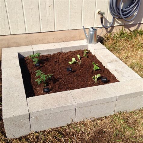 Diy Elevated Garden Cylinder Block