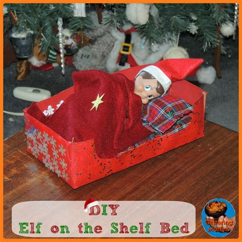 Diy Elf On The Shelf Bed Made Of Wood