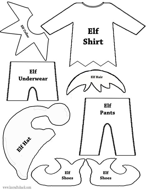 Diy Elf On The Shelf Shirt Template