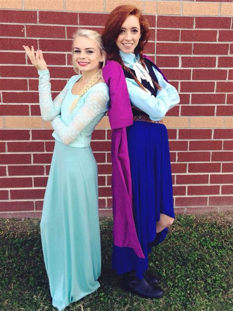 Diy Elsa And Anna Costumes