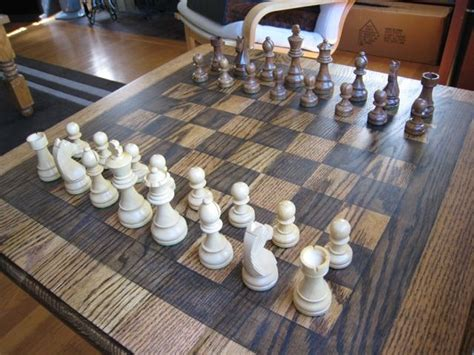 Diy End Table Chess Board