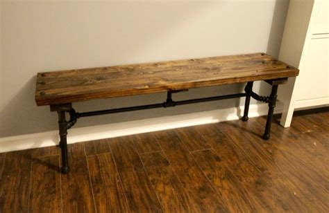 Diy Entryway Bench Ideas With Pipe Legs