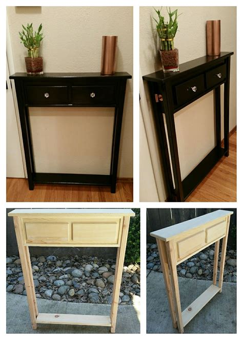 Diy Entryway Table With Drawers