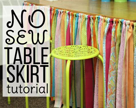 Diy Erasable Crayon Table Skirt
