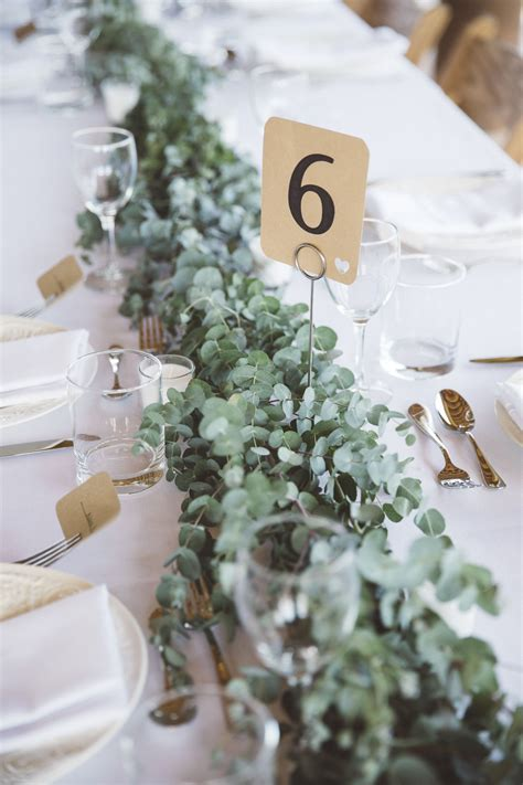 Diy Eucalyptus Table Runner