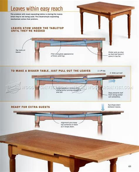 Diy Expanding Table Woodworking Plans