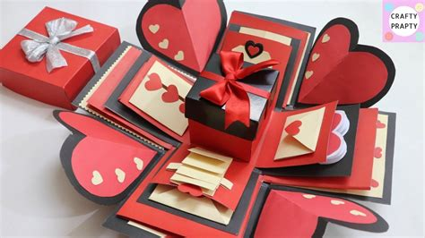 Diy Exploding Valentines Box Template