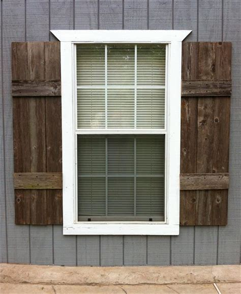 Diy Exterior Shutters Made With Pallets