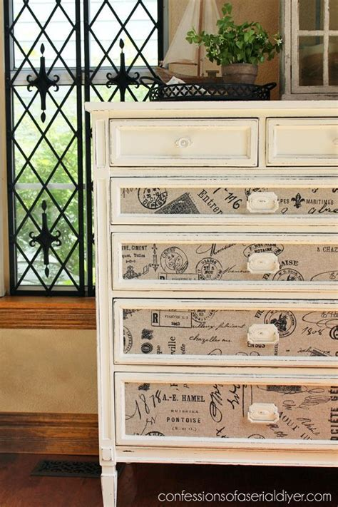 Diy Fabric Decoupage Dresser