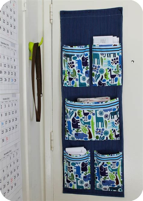 Diy Fabric Mail Organizer