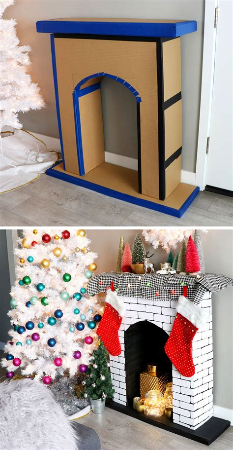 Diy Fake Fireplace For Christmas Display