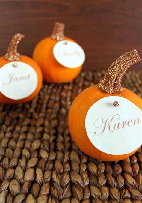 Diy Fall Table Place Card Ideas