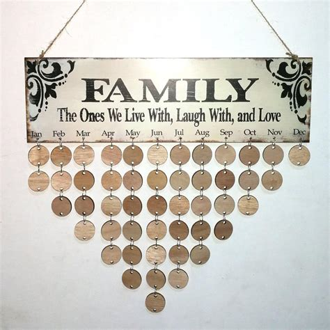 Diy Family Birthday Calendar Wall Hanging