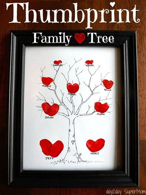 Diy Family Tree Gifts For Mom