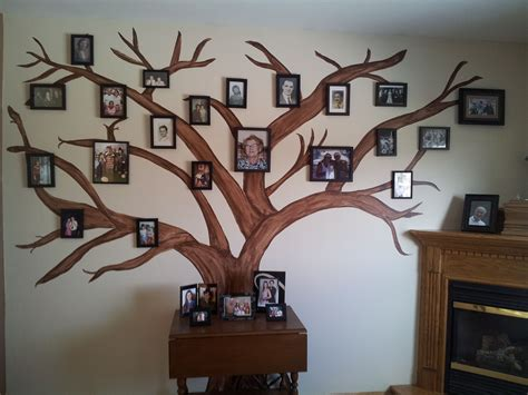 Diy Family Tree Picture Displays