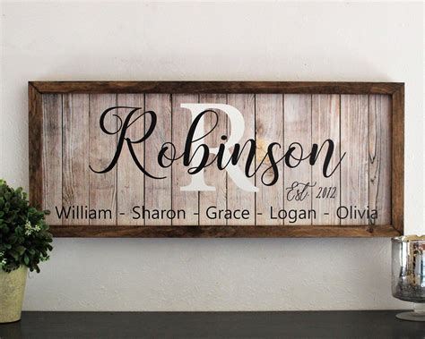 Diy Family Wood Signs