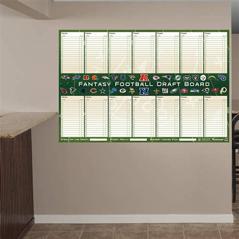 Diy Fantasy Football Dry Erase Board