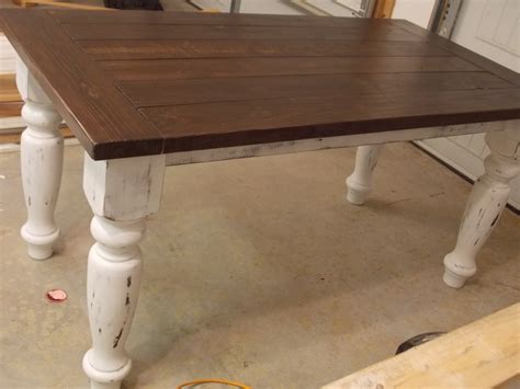 Diy Farm Table With Turned Legs
