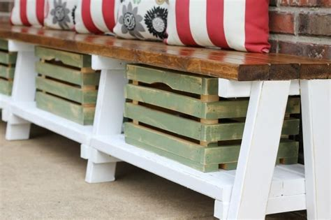 Diy Farmers Storage Bench