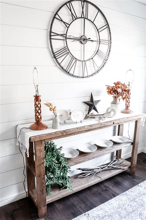 Diy Farmhouse Buffet Table