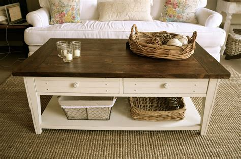 Diy Farmhouse Coffee Table Antique White